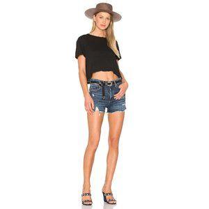 Agolde Jaden high-rise cutoff denim jean shorts